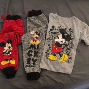 Other - Boy's Disney 3pc's Joggers & Tee Size 6